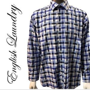 EUC Men's English Laundry Checker Button Down